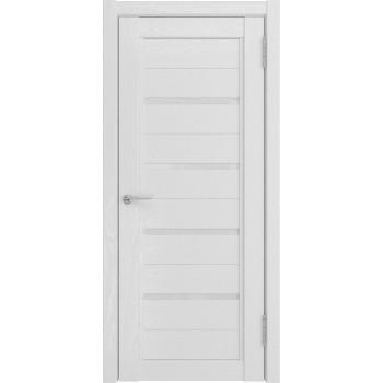 Дверь LH-4 белый снег остеклённая..Белый -матовый триплекс.