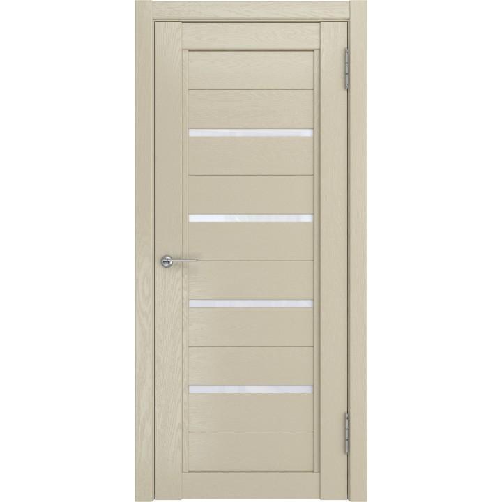 Дверь LH-4 капучино софт тач остеклённая..Белый -матовый триплекс.