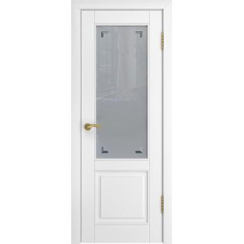 Дверь Luxor L-5 белая эмаль, стекло