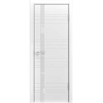 Дверь Luxor A-1 белая эмаль,  стекло лакобель белое
