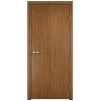 Усиленная гладкая шпонированная дверь ГОСТ. цвет светлый орех(609sm)