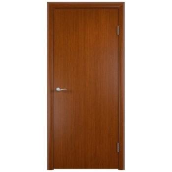Усиленная гладкая шпонированная дверь ГОСТ.  цвет Вишня