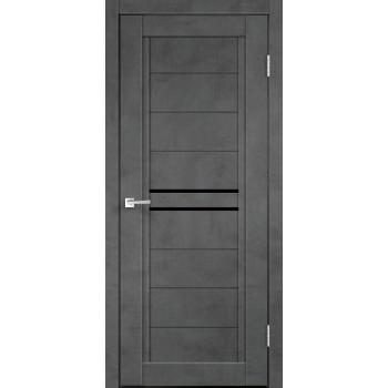 NEXT 2 Муар тёмно-серый стекло Лакобель чёрное
