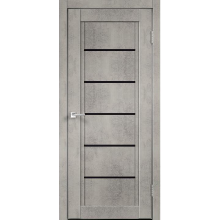 NEXT 1  Муар светло-серый стекло Лакобель чёрное
