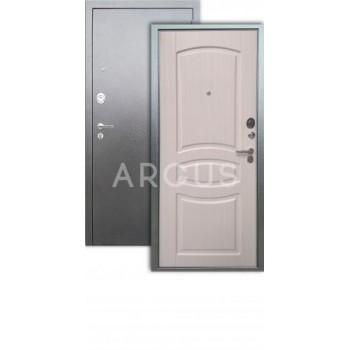 """Сейф-дверь  Аргус Люкс ДА-61 Серебро антик/""""Монако"""" Белый ясень"""