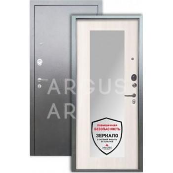 Сейф-дверь  Аргус Люкс ДА-61Z Серебро антик/Милли белый ясень