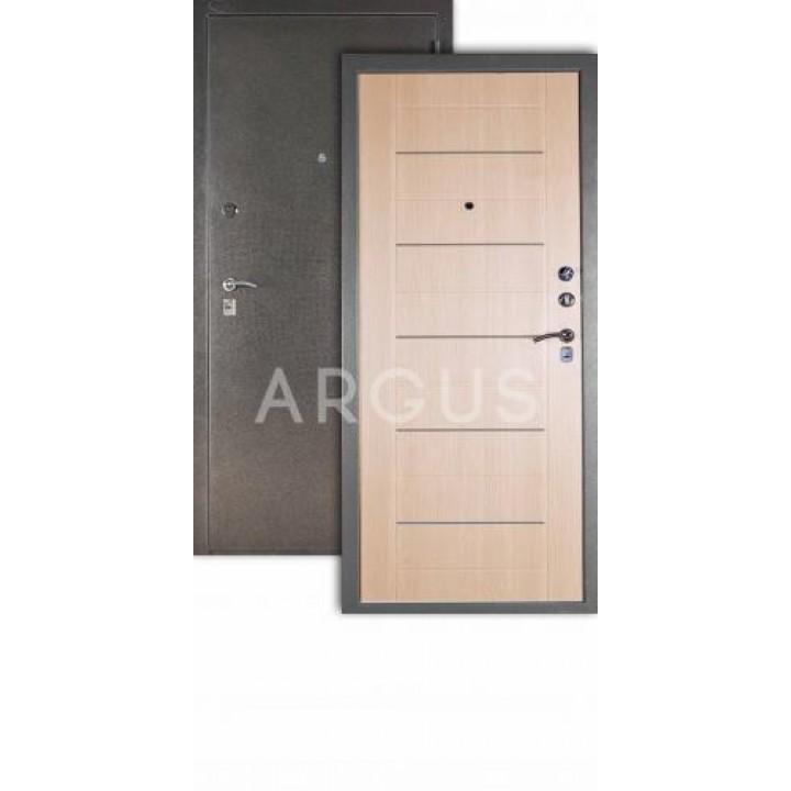 Сейф-дверь  Аргус Люкс ДА-1 Серебро антик/ Капучино тиснёный