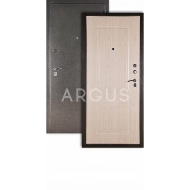 Сейф-дверь  Аргус Люкс ДА-15 Серебро антик/ Дуб Беленый, рисунок «Абсолют»