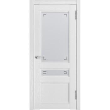 Дверь К-2 белый снег остеклённая.