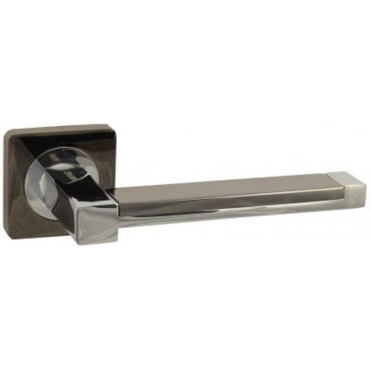 Дверная ручка «V- 05 чёрный никель / хром»