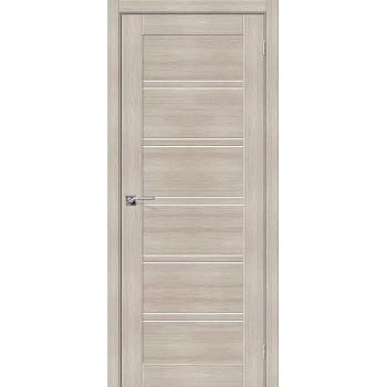 """Дверь Браво Порта-28 экошпон капучино вералинга, сатинато белое """"Magic Fog"""""""