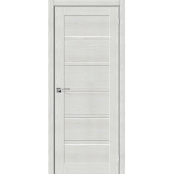 """Дверь Браво Порта-28 экошпон бьянка вералинга, сатинато белое """"Magic Fog"""""""