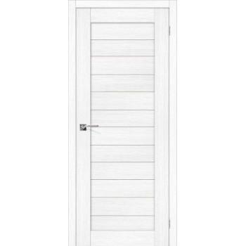 """Дверь Браво Порта-22 snow , сатинато белое """"Magic Fog"""""""