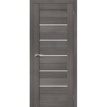 """Дверь Браво Порта-22 grey , сатинато белое """"Magic Fog"""""""