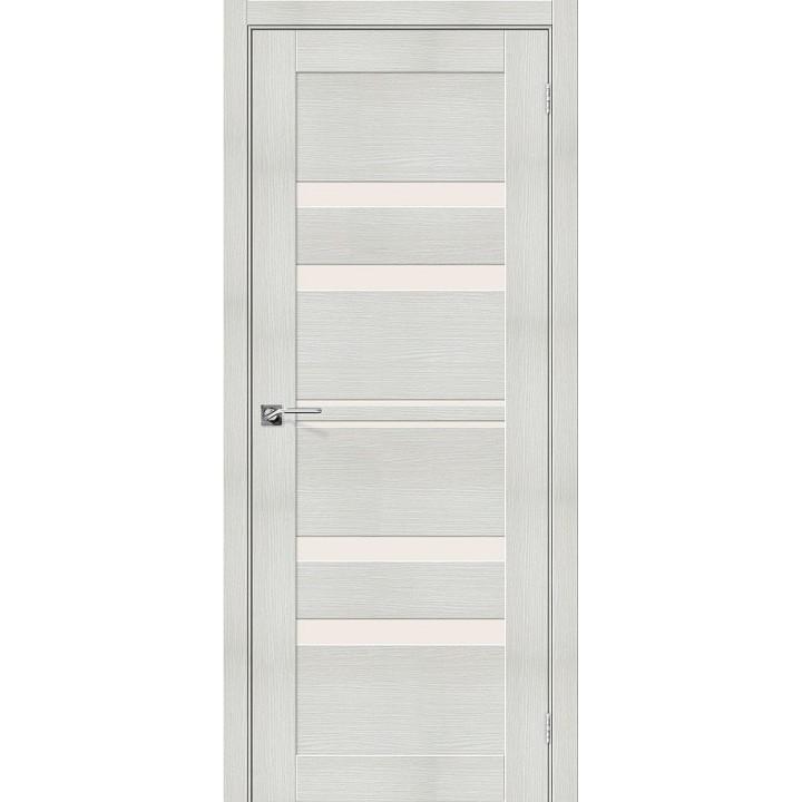 """Дверь Браво Порта-30 bianco, сатинато белое """"Magic Fog"""""""