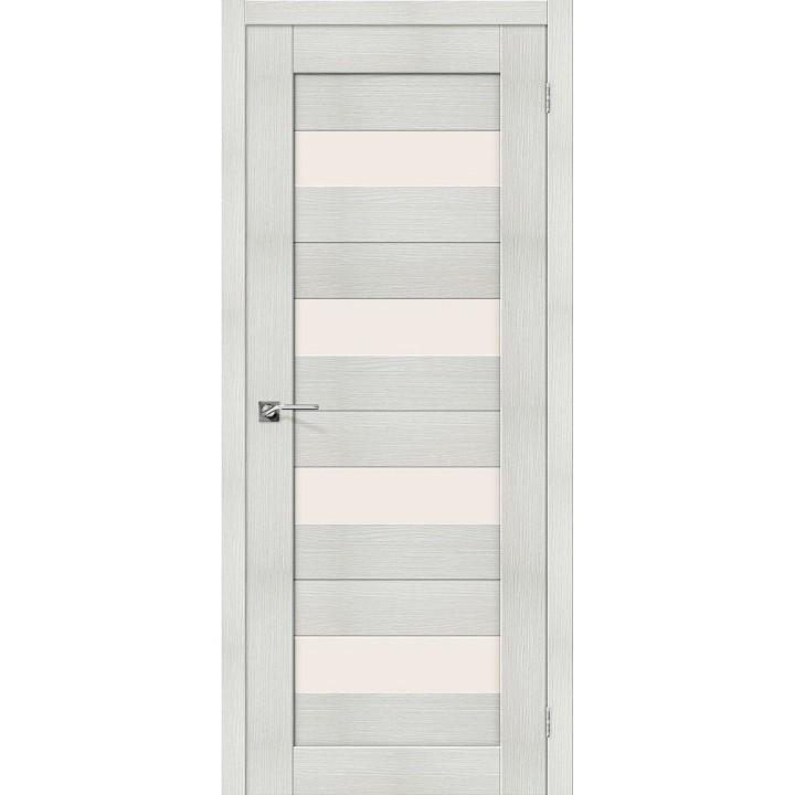 """Дверь Браво Порта-23 bianco, сатинато белое """"Magic Fog"""""""