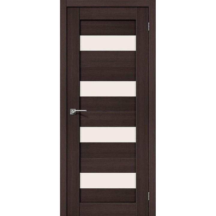 """Дверь Браво Порта-23 венге, сатинато белое """"Magic Fog"""""""