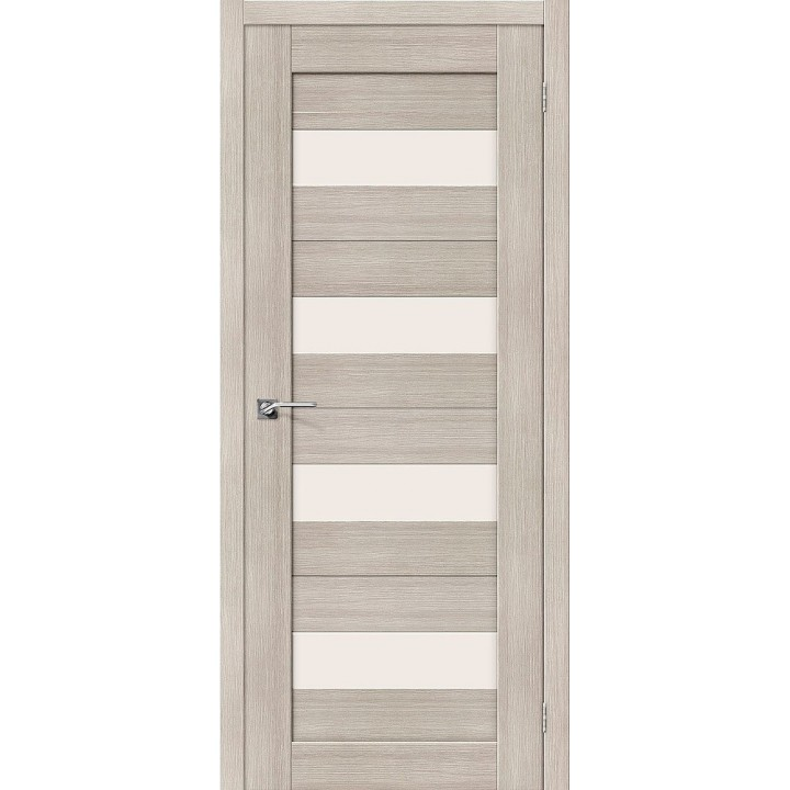"""Дверь Браво Порта-23 капучино, сатинато белое """"Magic Fog"""""""