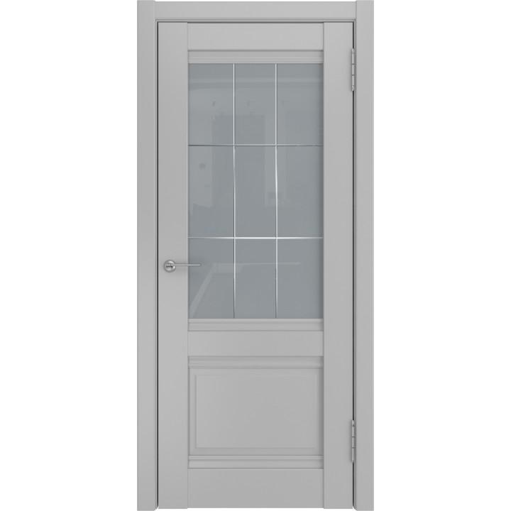 Ульяновская межкомнатная дверь U-51 маус винил стекло