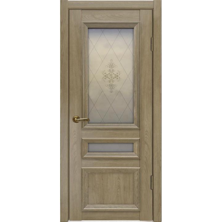 Ульяновская межкомнатная дверь Вероника-3 дуб натуральный стекло