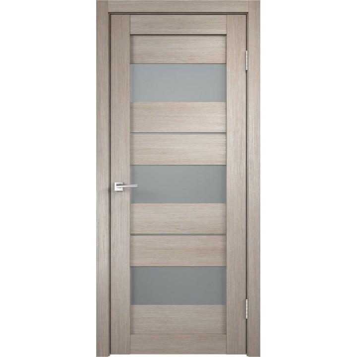 Дверь VellDoris экошпон Duplex 12 капучино, стекло мателюкс