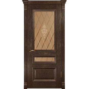Дверь Luxor Фараон 2 мореный дуб, стекло