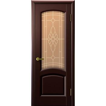 Дверь Legend Лаура венге, стекло