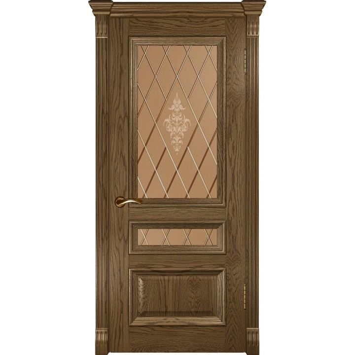 Дверь Luxor Фараон 2 светлый мореный дуб, стекло