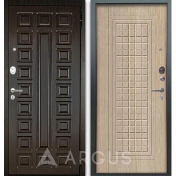Сейф-дверь Аргус Люкс АС 2П Сенатор Венге/Альма Капучино
