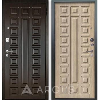 Сейф-дверь Аргус Люкс АС 2П Сенатор Венге/Сенатор Капучино
