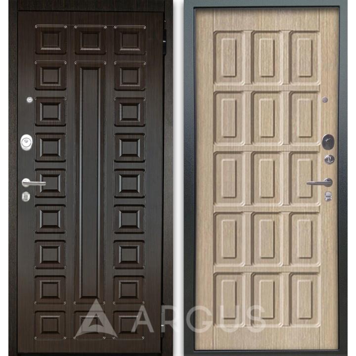 Сейф-дверь Аргус Люкс АС 2П Сенатор Венге/Шоколад Капучино