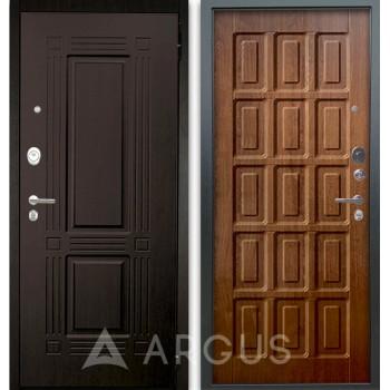 Сейф-дверь Аргус Люкс АС 2П Триумф Венге/Шоколад Дуб золотой