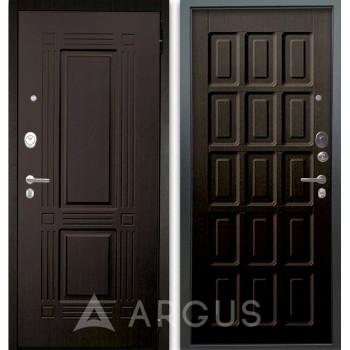 Сейф-дверь Аргус Люкс АС 2П Триумф Венге/Шоколад Венге тисненый