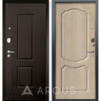 Сейф-дверь Аргус Люкс АС 2П Триумф Венге/Сонет Капучино