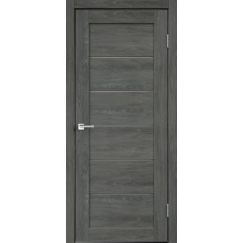 Дверь VellDoris экошпон Linea 1 дуб шале графит , стекло мателюкс