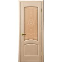 Дверь Legend Лаура беленый дуб, стекло