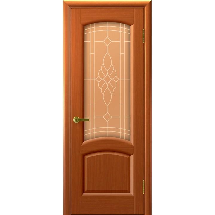 Дверь Legend Лаура темный анегри Тон №74, стекло