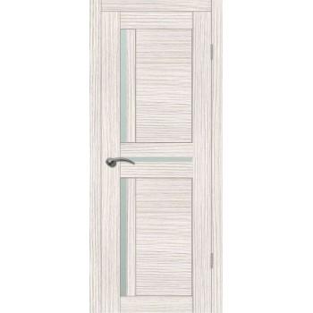 Дверь VellDoris экошпон Duplex 3 дуб белый, стекло мателюкс