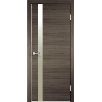 Дверь VellDoris экошпон Techno Z дуб серый, зеркало пескоструй