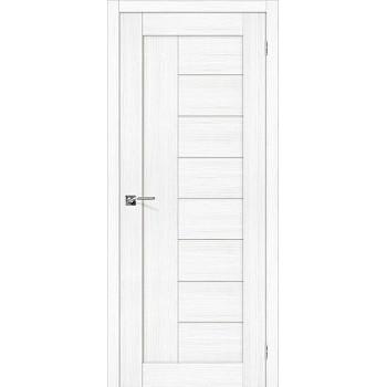 """Дверь Браво Порта-29 экошпон сноу вералинга, сатинато белое """"Magic Fog"""""""