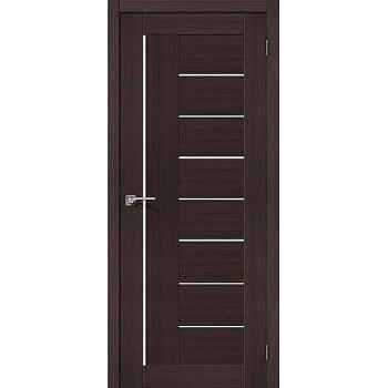 """Дверь Браво Порта-29 экошпон венге вералинга, сатинато белое """"Magic Fog"""""""