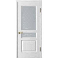 Дверь Luxor Атлант 2 ясень белая эмаль, стекло