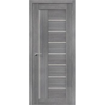"""Дверь Браво Порта-29 экошпон грей вералинга, сатинато белое """"Magic Fog"""""""