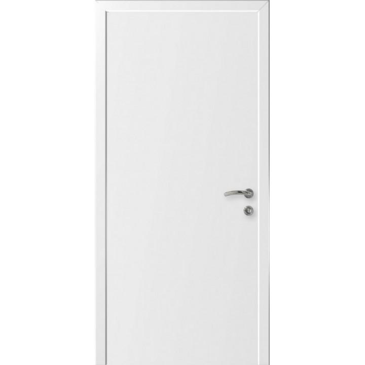 Дверь белая окрашенная одностворчатая глухая с четвертью Velldoris