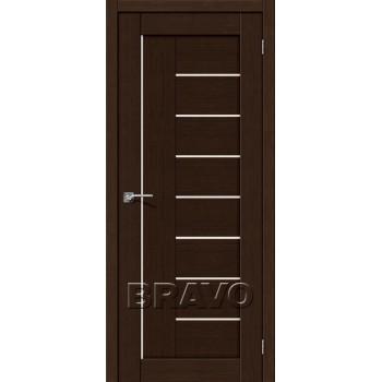 """Дверь Браво Порта-29 3D венге, сатинато белое """"Magic Fog"""""""