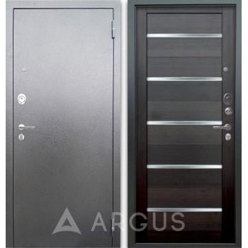 Сейф-дверь Аргус Люкс АС Серебро антик Александра Вельвет