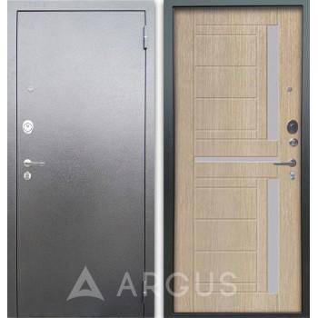Сейф-дверь Аргус Люкс АС Серебро антик Альфред Капучино