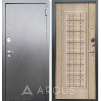 Сейф-дверь Аргус Люкс АС Серебро антик Альма Капучино