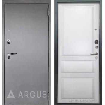 Сейф-дверь Аргус Люкс АС Серебро антик Каролина Эмаль белая