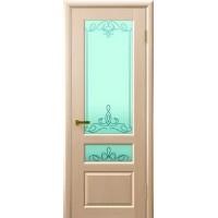 Дверь Legend Валентия 2 беленый дуб, стекло